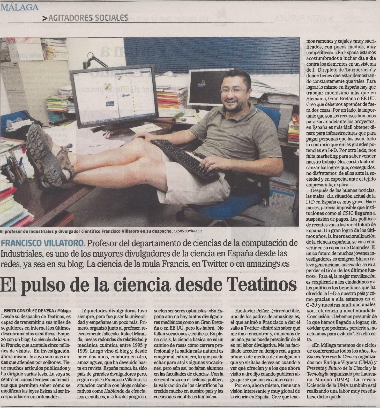 Francis entrevistado en el mundo edici n andaluc a - El mundo andalucia malaga ...