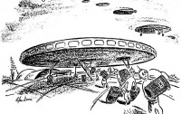Dibujo20130203 where is everybody - fermi paradox illustration - new yorker magazine