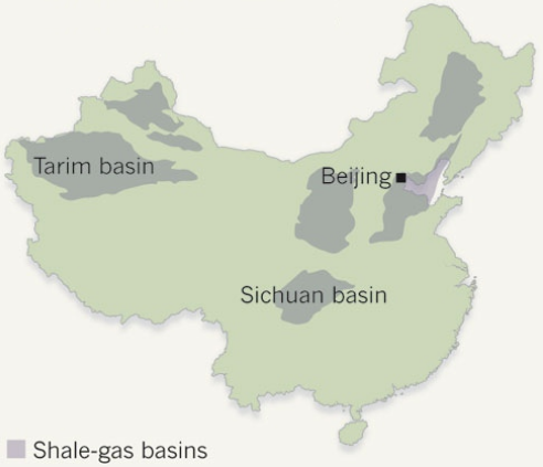 Dibujo20130220 shale-gas basins in China