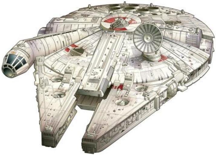 Dibujo20130513 millennium falcon - savage star wars core book