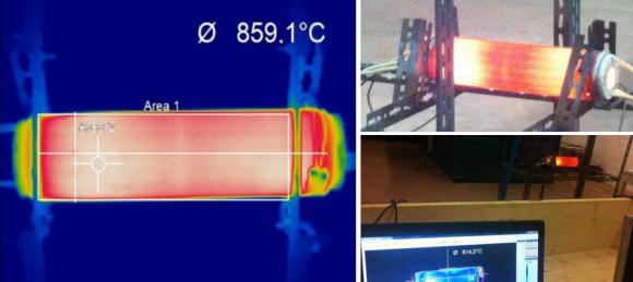 Dibujo20130520 Thermal image of the November test device ECat HT