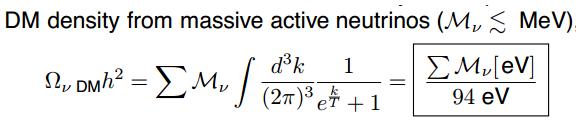 Dibujo20130722 DM density from massive active neutrinos
