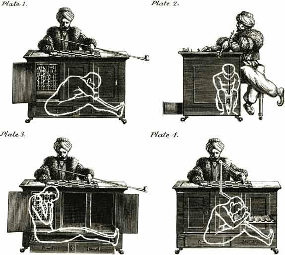 Dibujo201311224 The Turk - inside chess automata