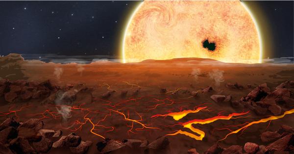 Dibujo20131101 artist impression of Kepler-78b - nature12702-f1