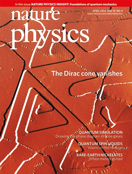 Dibujo20140420 nature physics cover - the dirac cone vanishes