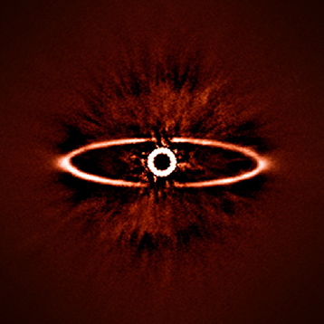 Dibujo20140604 hr 4796A circunstellar disc - sphere - eso