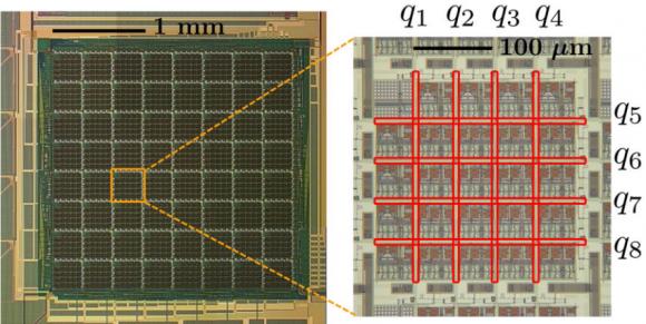 Dibujo20140612 D-wave 512 cubit chip - 8 cubit cell