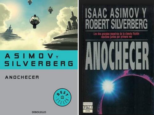 Dibujo20140722 anochecer - asimov - silverberg - book covers