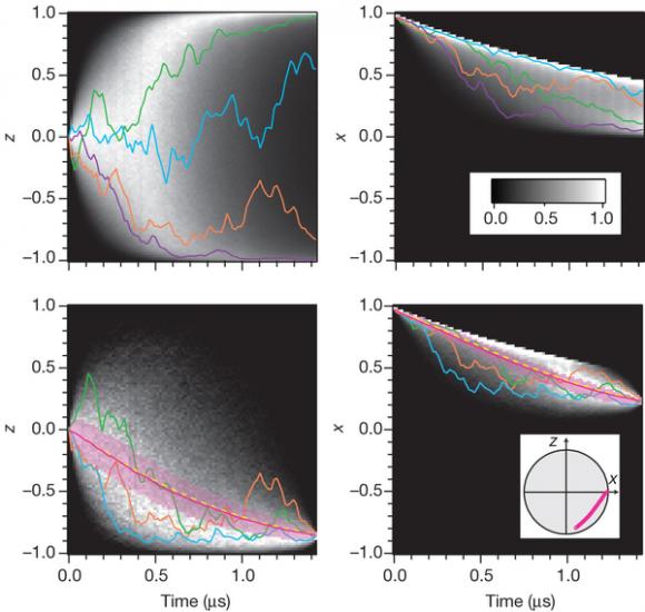 Dibujo20140731 Greyscale histograms of quantum trajectories in the undriven case - nature com