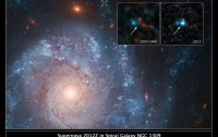 Supernova 2012Z in spiral galaxy NGC 1309, annotated