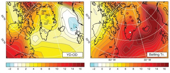 Dibujo20140904 Spatial patterns in Greenland temperature change - science