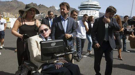 Dibujo20140914 Stephen Hawking - Santa Cruz Tenerife - 13 sep 2014 - EFE NACIMA20140913 0004 6