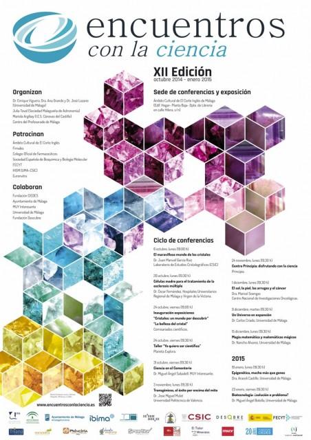 Dibujo20141103 XII Encuentros con la Ciencia - cartel