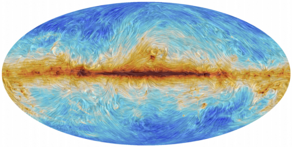 Dibujo20150208 galactic dust and magnetic fields - 30 GHz - planck esa