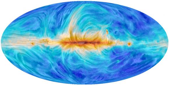 Dibujo20150208 synchrotron radiation and magnetic fields - 30 GHz - planck esa