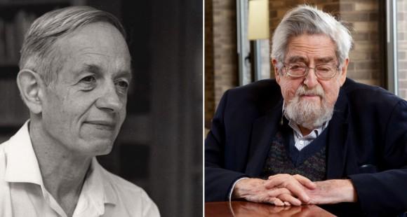 Dibujo20150328 john nash -left- louis nirenberg -right- 2015 Abel Prize