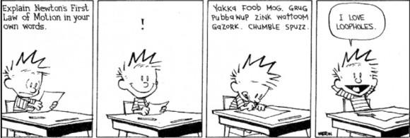 Dibujo20150405 i love loop holes - Calvin and Hobbes - Bill Watterson