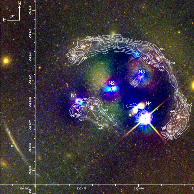 Resultado de imagen de el cúmulo Abell 3827 y la materia oscura