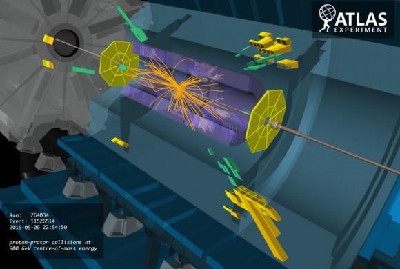 Dibujo20150517 atlas - proton-proton collisions at 900 gev cm - atlas lhc cern