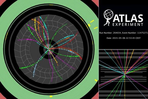 Dibujo20150517 event - atlas - proton-proton collisions at 900 gev cm - atlas lhc cern