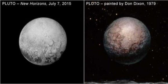 Dibujo20150713 pluto - new horizons 7 july 2015 - painted by don dixon 1979
