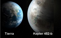 Dibujo20150722 small - earth-sun versus kepler 452-b-star - artist impression - kepler - nasa gov