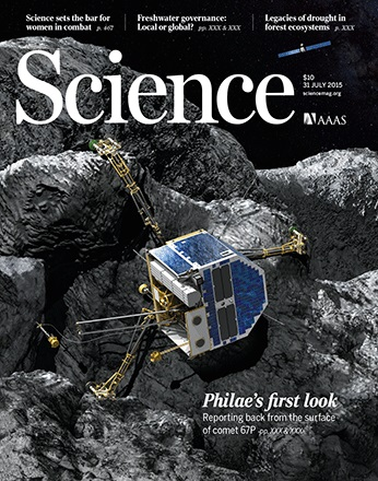 Dibujo20150731 science cover - philae on 67p comet - artist impression - science mag