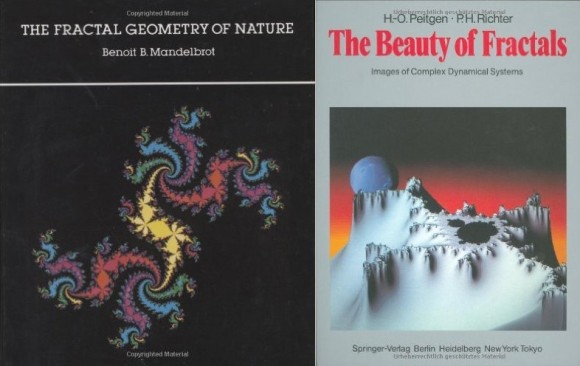 Dibujo20150812 two book covers on fractals - nueva manera ver mundo - geom fractal - binimelis