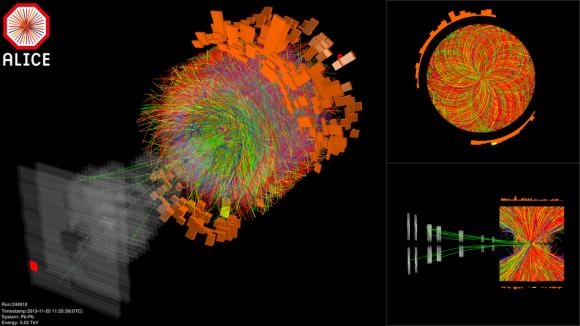 Dibujo20151125 first lead-lead collisions alice detector 5 tev lhc cern
