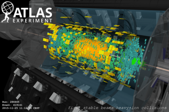 Dibujo20151125 first lead-lead collisions atlas detector 5 tev lhc cern