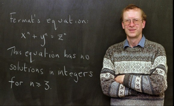 Dibujo20160315 Andrew Wiles fermat last theorem blackboard lowAP_9801060667 nature news