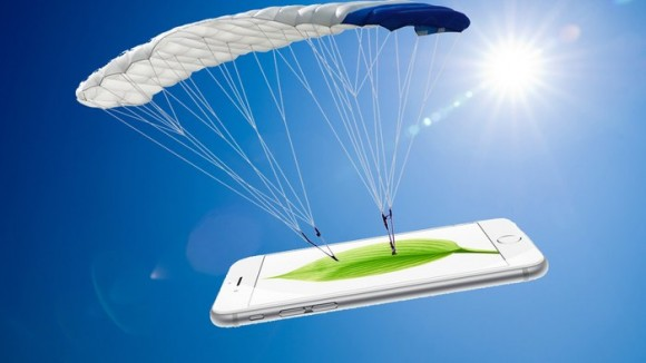 Dibujo2016031apple-patent-fall-protection-iphone Apple has patented technology to detect when its gadgets are falling parachutes Photo composite Shutterstock gizmag com 35038