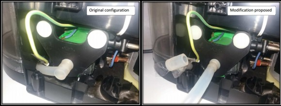 Dibujo20160707 Modification water reservoir by increased volume glass bottlein Krups coffee machine acs pub