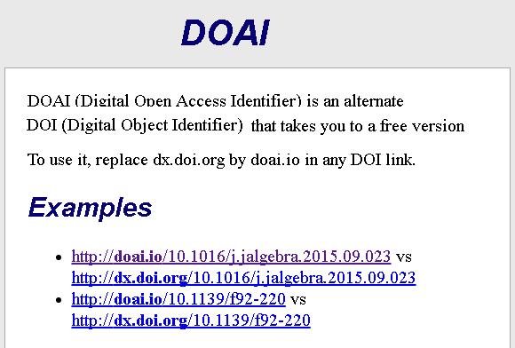 Dibujo20170224 doai vs doi for open access resolving papers