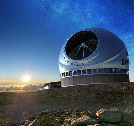 Dibujo20170407 artist rendering future thirty meter telescope TMT Artwork