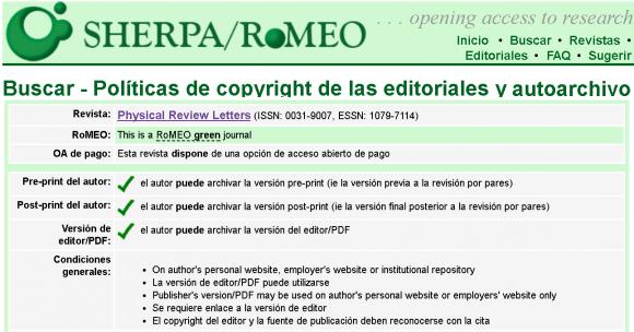 Dibujo20171029 sherpa romeo physical review letters APS no postprint embargo