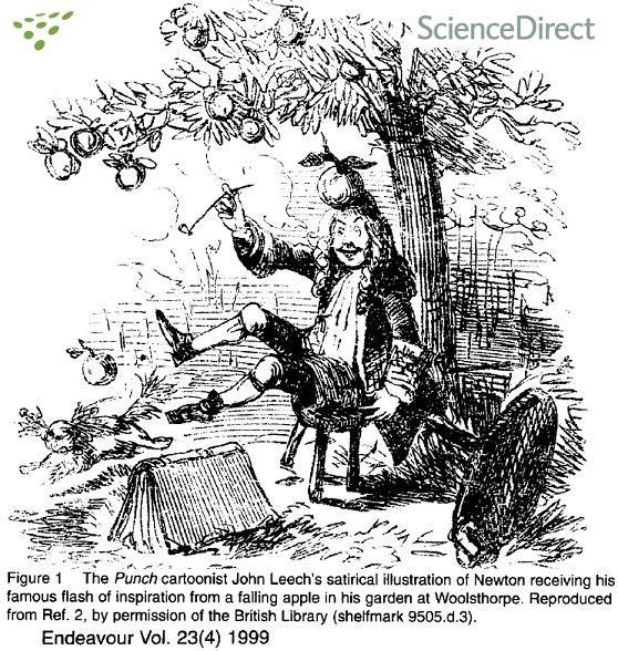 Newton y la historia de la manzana (verdadero o falso)