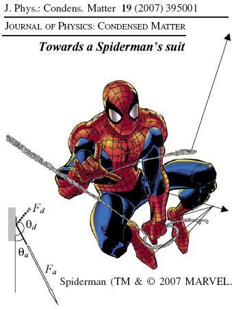 La telaraña y el traje de Spiderman una realidad próxima (o ya no sólo te disfrazarás en Carnaval, también treparás por las paredes como Fred Astaire)