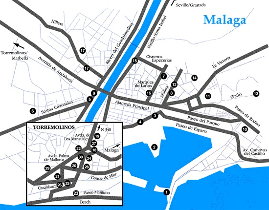 Para qué sirve la Red Básica en Málaga (o estoy en un atasco de tráfico y el 80% de las calles están vacías)