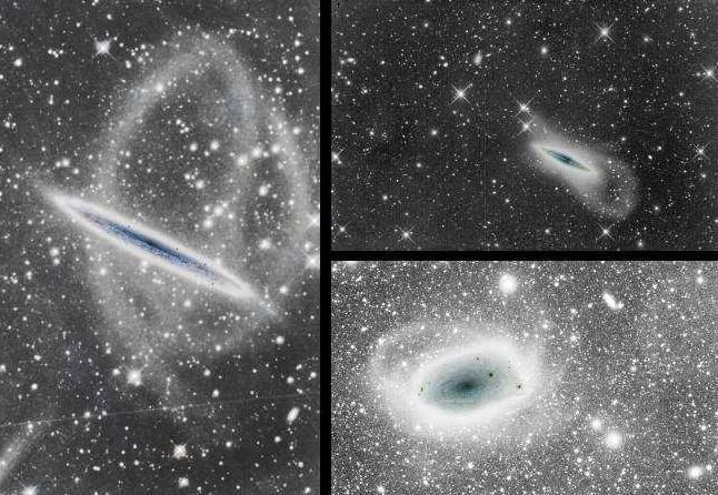 Dibujo20090806_Deep_image_stellar_tidal_stream_around_NGC_5907_left_NGC 4013_right_top_FSQ-106ED_right_bottom