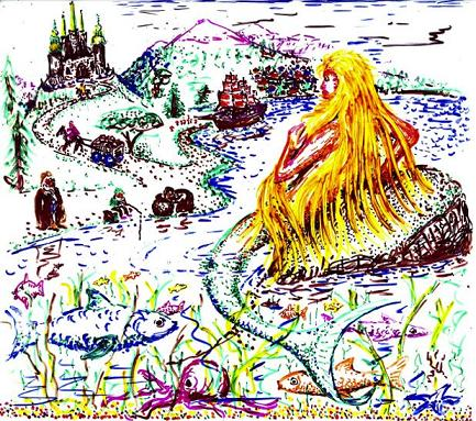 Dibujo20091012_roger_penrose_msri_conference_slide_schrodinger_s_little_mermaid