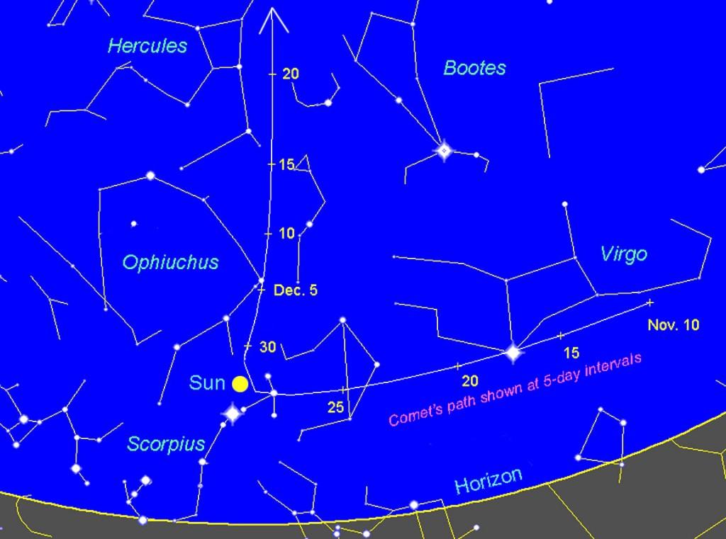 Dibujo20130105 Comet ISON long path ephem V2 - AstroBob