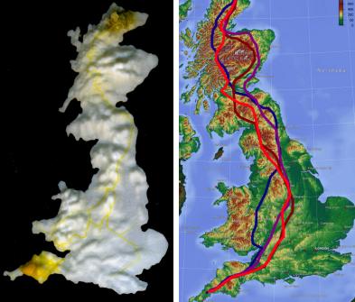 Dibujo20130424 slime mould navigating around mountains in UK