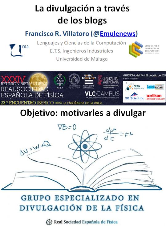 Dibujo20130726 la divulgacion a traves de los blogs - bienal fisica rsef