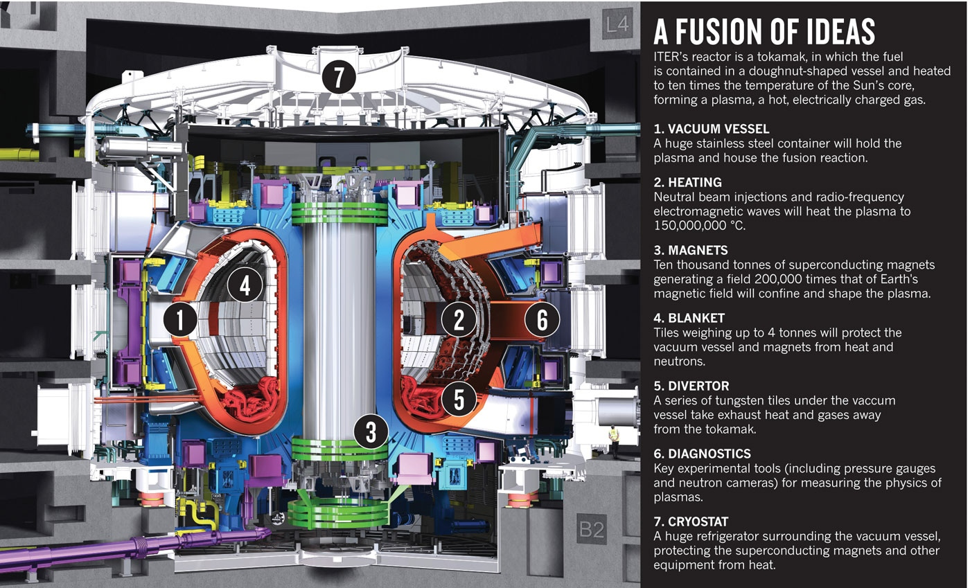 Dibujo20131015 nature news - iter tokamak reactor  - a fusion of ideas