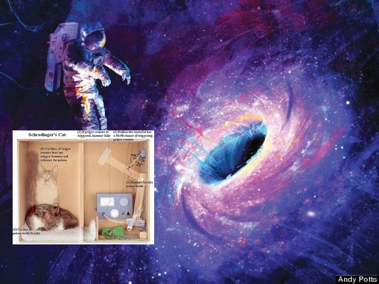 Dibujo20131021 schrodinger cat box - astronaut - black hole