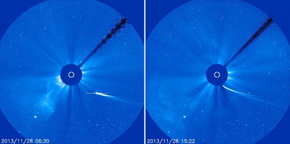 Dibujo20131127 comet ison - SOHO vision field