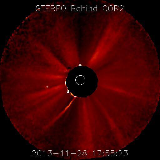 Dibujo201311289 ISON image STEREO-A UT 18 55 23