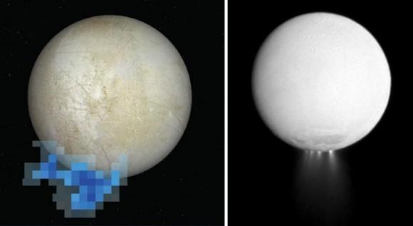 Dibujo20131212 Europa - Enceladus - water vapour jets