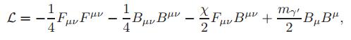 Dibujo20131230 lagrangian - photon coupled to dark photon